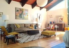 Before & After: George's Warm Mid-Century Modern Living Room — The Big Reveal Room Makeover Contest 2015 | Apartment Therapy