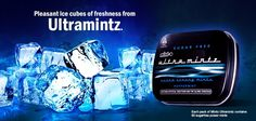Pleasant ice cubes of freshness from #Ultramintz.