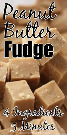 This Peanut Butter Fudge is one of the best fudges I've ever tasted. Rich, creamy, over-the-top Peanut Butter Fudge is so easy to make, you might laugh. Best Peanut Butter Fudge, Microwave Peanut Butter Fudge, Homemade Peanut Butter, Peanut Butter Recipes, Fudge Recipes, Candy Recipes, Hot Fudge, Easy Fudge, Köstliche Desserts