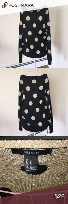 Shimmer polka dot sweater Sweater by Forever 21. Size medium. Accepting all reasonable offers! Forever 21 Sweaters