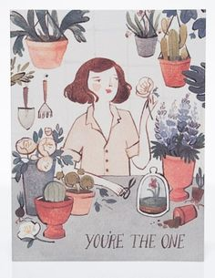 You're the one | Red Cap Cards | Kelsey Garrity-Riley