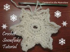 Content in the Meantime: Crochet snowflake tutorial