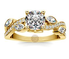 Vogue Crafts & Designs Pvt. Ltd. manufactures Twisted Leaf Diamond Ring at wholesale prices.