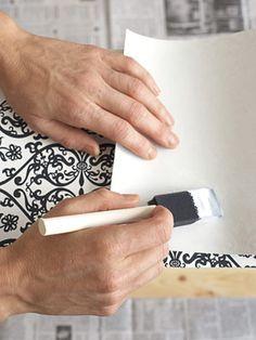 how to wallpaper a dresser!