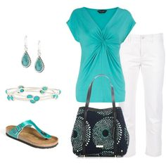 Turquoise/Capri, created by mmessenger on Polyvore
