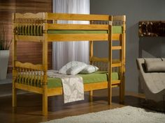 This Bonsoni Traditional Style Weston Bunk Bed Frame is a beautiful piece of Bed demostrating the Bonsonis unparallel quality and workmanship. This WESTON BUNK BED comes in 3 boxes. This Bonsoni Traditional Style Weston Bunk Bed Frame is made of Solid pin Pine Bunk Beds, Wooden Bunk Beds, Cool Bunk Beds, Bunk Beds With Stairs, Kid Beds, Childrens Bunk Beds, Triple Bunk Beds, Ottoman Storage Bed, Bunk Bed Designs