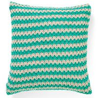 Aura Stripey 50x50cm Filled Cushion Aqua