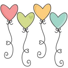 Heart Balloons SVG scrapbook cut file cute clipart files for silhouette cricut p. - Heart Balloons SVG scrapbook cut file cute clipart files for silhouette cricut pazzles free svgs fr - Doodle Drawings, Easy Drawings, Doodle Art, Silhouette Design, Silhouette Cameo, Cute Clipart, Heart Balloons, Watercolor Cards, Painted Rocks