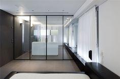 Antokolsky Apartment 1 - Pitsou Kedem Pitsou Kedem, Wardrobe Doors, Clean Design, Living Area, Interior Architecture, Small Spaces, House Design, Bedroom, Furniture