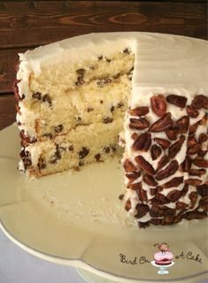 Toasted Butter Pecan Cake by Bird On A Cake