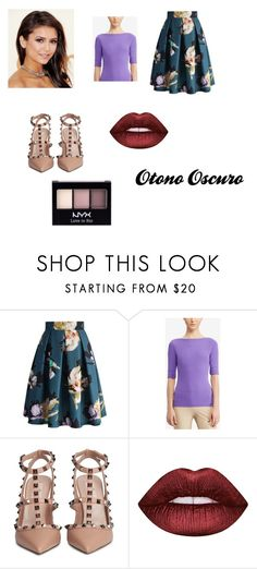 """""""Otono oscuro combinaciones"""" by joycelp on Polyvore featuring Chicwish, Lauren Ralph Lauren, Valentino, Lime Crime and NYX"""