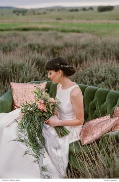 A beautiful retake on classic style. You need to get a closer look at her gown! Perfect Wedding Dress, Dream Wedding, Wedding Day, Bronze Wedding, Gold Wedding, Green Rose, Bridal Looks, Wedding Table, Wedding Colors