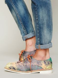 Miista Galaxy Oxford at Free People Clothing Boutique... These are adorable, but I could probably make this happen with paints of my own.