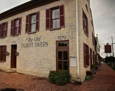Meander through Old Talbott Tavern and walk in the footsteps of a young Abraham Lincoln, Gen. George Rogers Clark, Daniel Boone, and exiled French King Louis Phillipe. Touch the bullet holes suposedly shot by Jesse James, communicate with a ghost, then enjoy a bread pudding with bourbon sauce. - Bardstown, KY