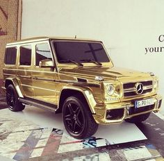Gold Mercedes G Wagon. NEED