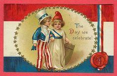 Free of July Vintage Postcards - Vintage Holiday Crafts Vintage Cards, Vintage Postcards, Vintage Images, Vintage Clip, Vintage Ephemera, Vintage Paper, Vintage Pictures, Vintage Stuff, Vintage Items