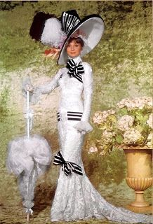 Audrey Hepburn in My Fair Lady. costumes by Cecil Beaton.