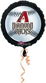 18'' Arizona Diamondbacks Foil Balloon - Flat (Pack of 5)