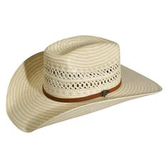 Bailey Lubbock Natural//Tan Mens Straw Western Hat Cattleman