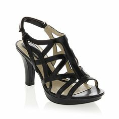"""Naturalizer """"Danya"""" Strappy Platform Sandal, 4 color choices, whole and half sizes, medium and wide width, and sizes 6 to 11.  This is the sandal you will pull out every year and it will always look good. $79.00"""