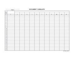 Imagini pentru model document cumulativ orizontal gratis