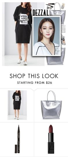 """""""Metallic with Dezzal"""" by anarita11 ❤ liked on Polyvore featuring Loeffler Randall, Smith & Cult, Max Factor and NARS Cosmetics"""