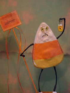Idk why I pinned this, just a funny old mean candy corn man :)