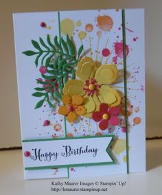 Botanical blooms card Stampin' Up