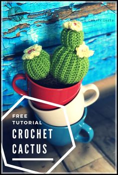 Make Your Own Crochet Cactus - Free Tutorial | Counting Crafty Sheep (scheduled via http://www.tailwindapp.com?utm_source=pinterest&utm_medium=twpin)