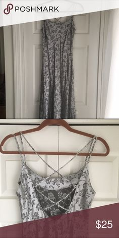 Selling this VINTAGE silver party dress on Poshmark! My username is: dwool. #shopmycloset #poshmark #fashion #shopping #style #forsale #Dresses & Skirts