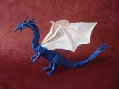 Origami diagram of the Western Dragon