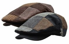 4ac4df9b1a0 Stetson wool tweed patchwork ivy cap men gatsby newsboy hat golf driving  flat. Caps HatsMen s ...