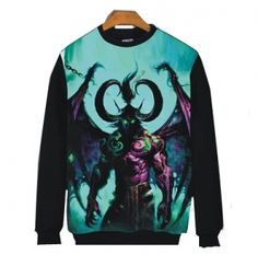 WOW World of Warcraft sweatshirt for teens plus size 3D Illidan Stormrage