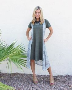"""""""It doesn't take much to feel good about yourself."""" - Jim Carey. It really doesn't! You are a unique being created by God to do wonderful things! There is just one you, and that is pretty cool! #lularoecarly #carlydress #lularoejoy #joyvest"""