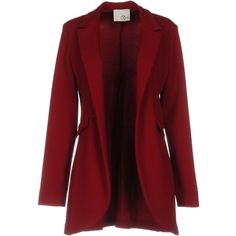 Relish Blazer ($66) ❤ liked on Polyvore featuring outerwear, jackets, blazers, maroon, red jacket, blazer jacket, red blazers, single breasted jacket and maroon jacket