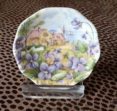 Miniature Bone China Plate from New Brunswick *****just thought it cute to hang*****