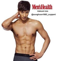 on men's Health magazie Feb. Sexy Asian Men, Sexy Men, Sung Hoon My Secret Romance, Dramas, Won Bin, Kim Woo Bin, Ideal Body, News Magazines, Korean Actors