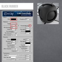 Vray V-ray 3DS MAX Black Rubber