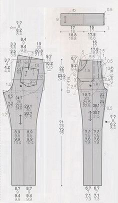 Patterns - from simple to complex Sewing Patterns Free, Free Sewing, Clothing Patterns, Dress Patterns, Fashion Sewing, Diy Fashion, Sewing Pants, Patterned Jeans, Creation Couture
