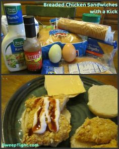 Breaded Chicken Sandwiches with a Kick
