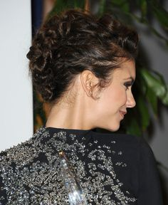 Add some edge to a delicate outfit with a funky knotted fauxhawk like Nina Dobrev!