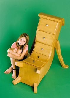 """Not sure how practical this is but gives """"furniture with character"""" a whole new meaning. Seuss meets Alice In Wonderland whimsical furniture is created by Judson Beaumont of Straight Line Designs. Funny Furniture, Unusual Furniture, Baby Furniture, Cheap Furniture, Furniture Making, Furniture Design, Furniture Movers, Furniture Stores, Dresser Furniture"""