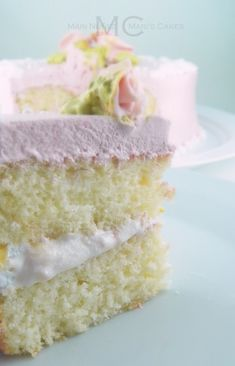 White Cake - Moist fluffy white cake recipe very easy to make
