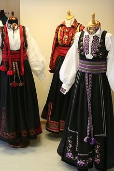 Norwegian Clothing, Folk Dance, Folk Costume, Ethnic Fashion, Dress Outfits, Dresses, Dance Costumes, Norway, Style Inspiration