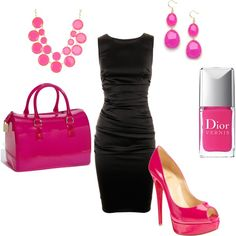 Pink And A Little Black Dress