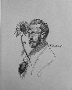 - Van Gogh d& You are in the right place about diy projects Here we offer y - Van Gogh Drawings, Pencil Art Drawings, Art Drawings Sketches, Van Gogh Tattoo, Van Gogh Tapete, Van Gogh Zeichnungen, Desenhos Van Gogh, Van Gogh Wallpaper, Vincent Willem Van Gogh