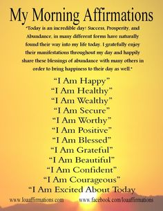 Morning Affirmations - Humanity Healing Community