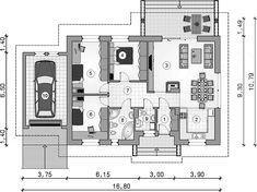 Rzut parteru projektu Neo III Floor Plans, Floor Plan Drawing, House Floor Plans