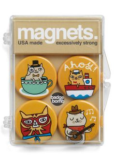 Cats of Characters Magnets, #ModCloth