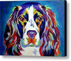 Springer Spaniel - Cassie Canvas Print / Canvas Art By Alicia Vannoy Call